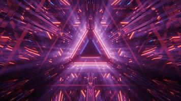 lueur émergente dans la lumière violette photo