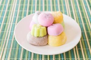 mochi dessert coloré photo