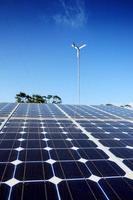 panneau de cellules solaires bouchent photo