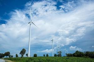 les éoliennes ont produit de l'électricité photo
