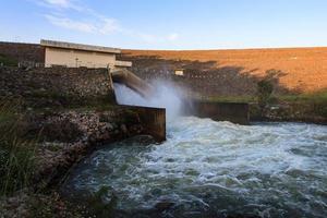 mur de barrage.