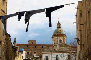 Corde à linge à Palerme, Italie
