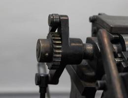 Engrenage d'une vieille machine en imprimerie photo