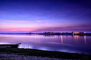 Barrage de lam pao au crépuscule photo