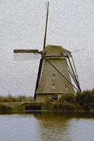 moulin à vent hollandais photo