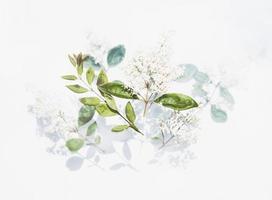 oeuvre de feuilles vertes photo