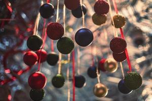 ornements de Noël colorés