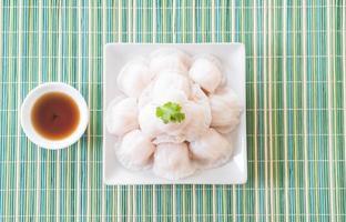 boulettes de crevettes cuites à la vapeur