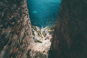 photographie aérienne de la mer photo