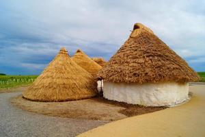 huttes en herbe photo