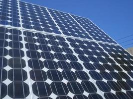 panneau solaire de cellules photovoltaïques photo