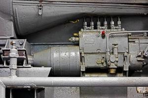 pièces mécaniques de l'ancien moteur