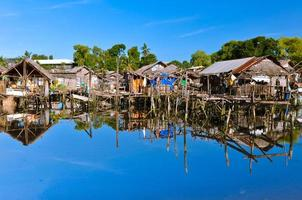 bidonvilles sur l'eau photo