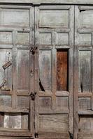 Détail de la porte en bois antique photographie gros plan photo