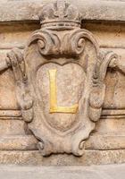Détail de la décoration façade à prague photo