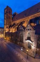 Église St Mary Magdalene à Wroclaw, Pologne dans la nuit photo