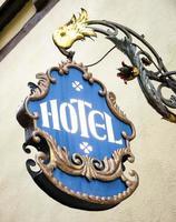 ancien signe de l'hôtel photo