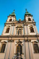 Façade de l'église Sainte-Anne à Budapest Hongrie