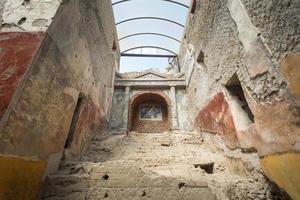 Le célèbre site antique de Pompéi, près de Naples en Italie