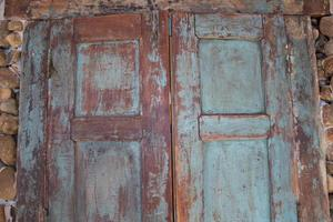 fond vintage de porte ancienne en bois photo