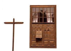 Lanzarote teguise blanc et croix dans les canaris photo