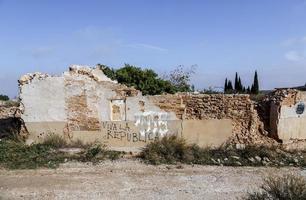 village belchite détruit pendant la guerre civile espagnole photo