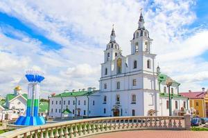 cathédrale du saint-esprit à minsk, biélorussie. photo