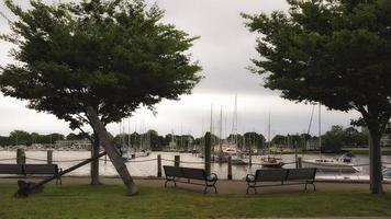 Vue sur le port de Wickford Rhode Island