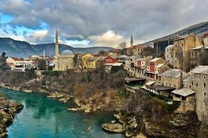 Architecture de la vieille ville de Mostar photo