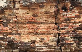 vieux fond de texture de mur de brique rouge photo