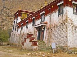 Lhassa, tibet, monastère sera photo