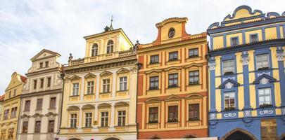 Façade du bâtiment historique à prague