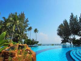 piscine à débordement en Indonésie photo