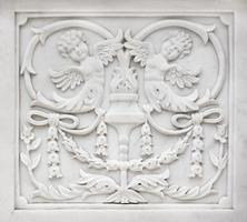 décoration en pierre sculptée photo