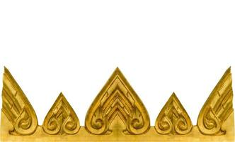 texture dorée du mur dans le temple thaïlandais. photo