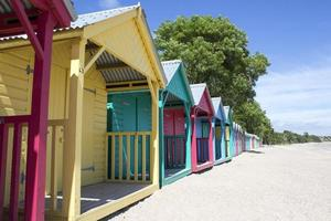 Cabane de plage dans le nord du Pays de Galles photo