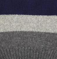 laine grise et bleue.