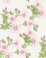 fond floral sans soudure