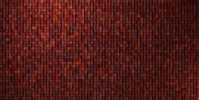 Mur de mosaïque grungy irrégulière 3D en rouge foncé