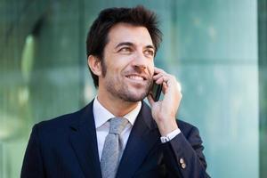 homme affaires, conversation téléphone photo