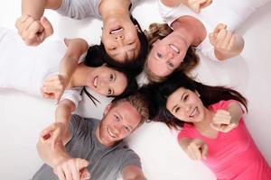 heureux groupe d'amis photo
