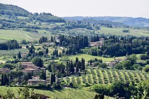 Vue aérienne de la campagne à Florence photo