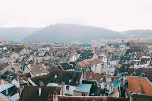 toits d'appartements et d'immeubles photo