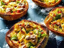 petites pizzas au four