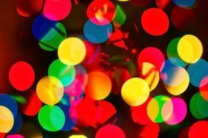 lumières bokeh colorées photo