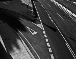 la route b & w photo