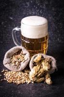 orge, houblon et bière photo