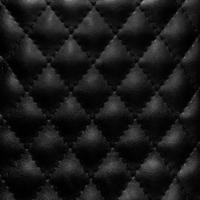 cuir matelassé noir photo