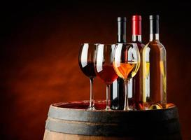vin en cave à vin photo