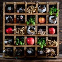 ingrédients de la bière de pomme fraîche photo